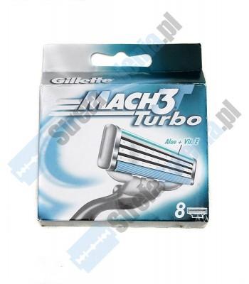 Gillette Mach 3 Turbo wkłady 8 szt.