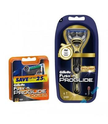 Zestaw Maszynka Gillette Fusion Proglide Power + 8 wkładów
