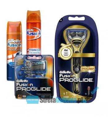 Zestaw Gillette Fusion Proglide Power+4 wkłady+żel
