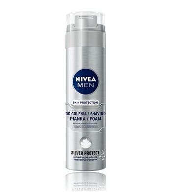 NIVEA FOR MEN Pianka do golenia SILVER PROTECT 200ml