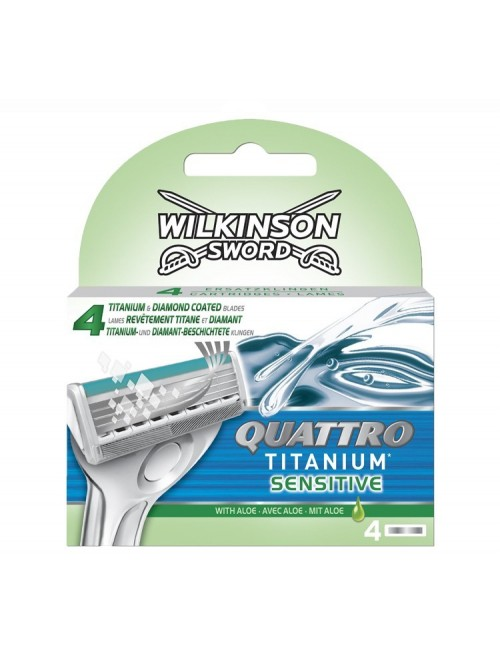 Wilkinson Quattro Titanium Sensitive, 4 sztuki